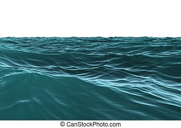 Digitally generated Blue rough sea