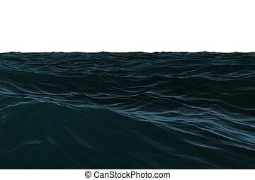 Digitally generated Dark blue rough sea