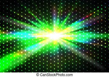 Digitally generated disco background