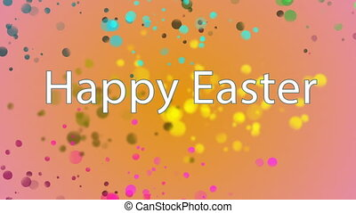 Happy Easter text against multicolor - Digitally generated...