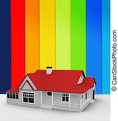 Digitally generated house