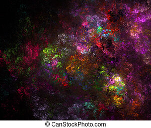 Digitally generated image. Abstract floral fractal background for art projects.