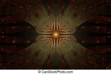 Digitally generated image made of colorful fractal