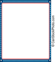 Digitally generated image of empty photo frame with american...