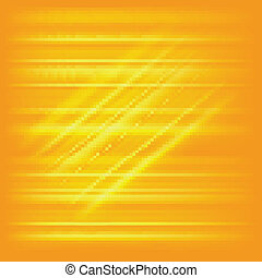 Digitally generated image of yellow light and stripes