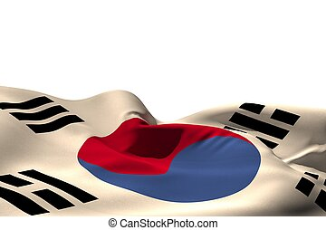 Digitally generated japan flag rippling