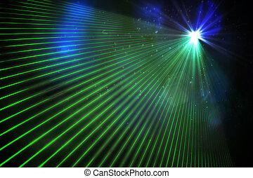 Digitally generated laser background