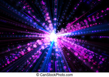 Digitally generated laser background in pink colours