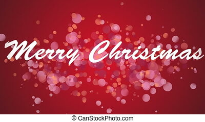 Merry Christmas against red background - Digitally generated...