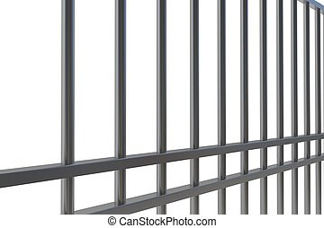 Digitally generated metal prison bars