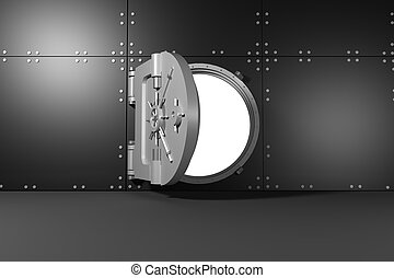 Digitally generated opened safe