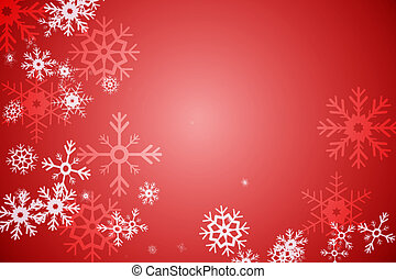 Red snow flake pattern design - Digitally generated Red snow...