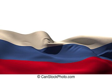 Digitally generated russia flag rippling