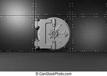 Digitally generated safe - Digitally generated grey metallic...