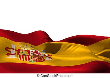 Digitally generated spain flag rippling