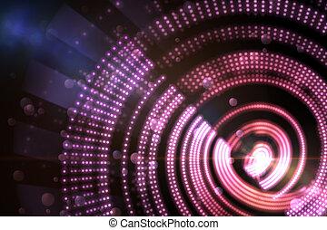 Digitally generated spiral design