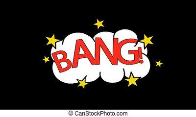 Digitally generated video of bang 4k