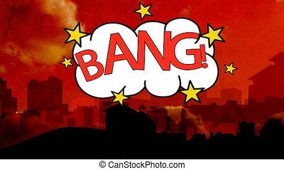Digitally generated video of bang