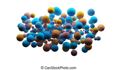 Digitally generated video of bubbles