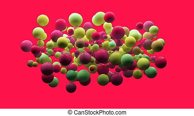 Digitally generated video of bubbles - Digitally generated...