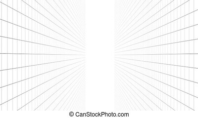 Digitally generated video of concentric lines concept