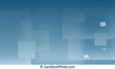 Digitally generated video of cubes against blue background