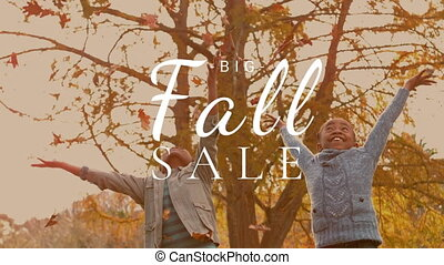 Digitally generated video of fall sale 4k