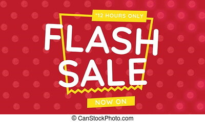 Digitally generated video of flash sale 4k