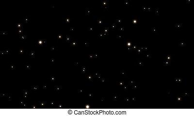 Digitally generated video of galaxy