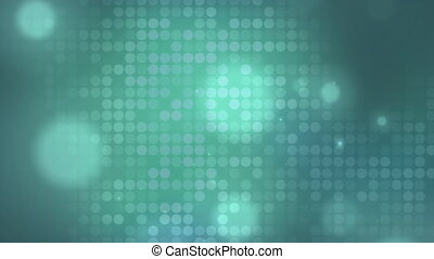 Digitally generated video of glowing spots moving against blue background