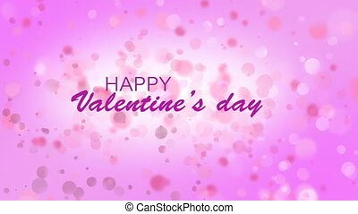Digitally generated video of happy valentines day against...