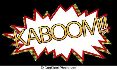 Digitally generated video of kaboom 4k