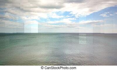 Digitally generated video of landscape 4k