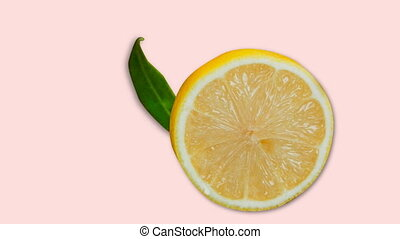 Digitally generated video of lemon