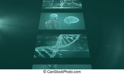 Digitally generated video of medical data processing - ...