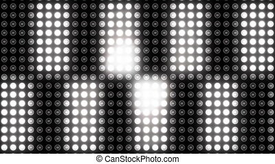 Digitally generated video of polka dot pattern