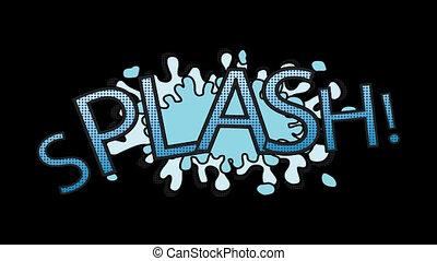 Digitally generated video of splash 4k