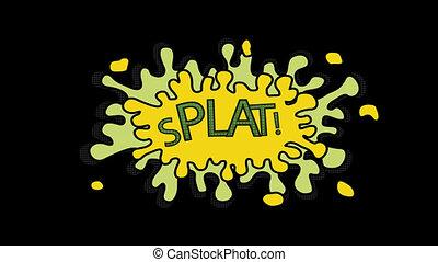 Digitally generated video of splat 4k