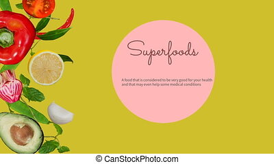 Digitally generated video of super foods