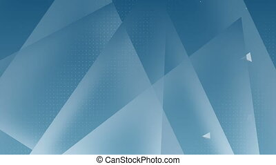 Digitally generated video of triangles against blue background