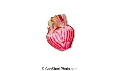 Digitally generated video of turnip