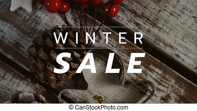 Digitally generated video of winter sale 4k