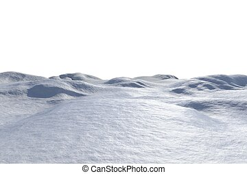 Digitally generated white snowy