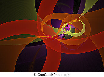digitally kivált, image., színes, fractal, finom, finom,...