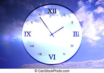 Digitally roman numeral clock