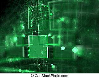 digitalmente, astratto, -, generare, offuscamento,...