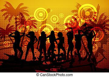 digitalmente, club nocturno, plano de fondo, generar