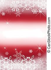 digitalmente, copos de nieve, creado, ilustración, navidad,...