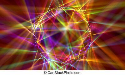 digitalmente, disco, generar, neón, laser, plano de fondo