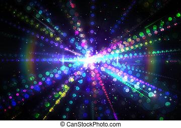 digitalmente generato, laser, fondo